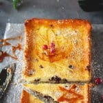 German Cranberry Orange Cream Tart with Easy Caramel Garnishes | allthatsjas.com