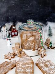 Snow Globe German Gingerbread Cookie Village | allthatsjas.com