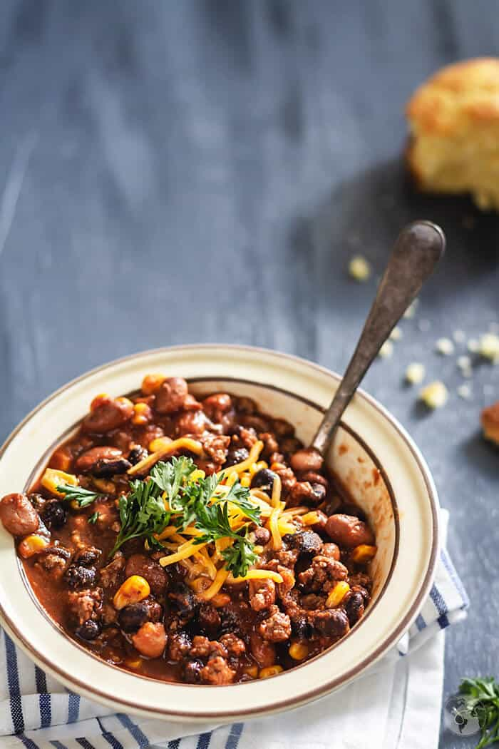 Mexican Two Bean Chili Con Carne Recipe All That S Jas