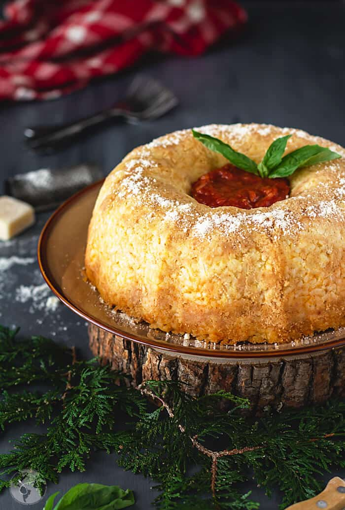 Delicious and gorgeous dish of rice timbale.