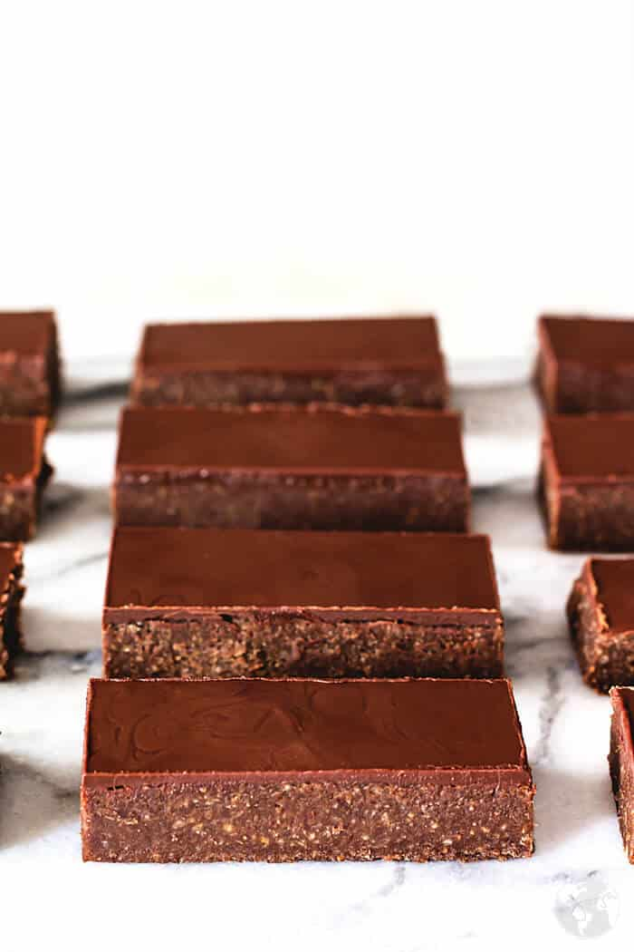 The chocolate rum bars are no-bake.