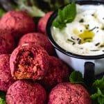 Baked Red Beet Falafel | allthatsjas.com
