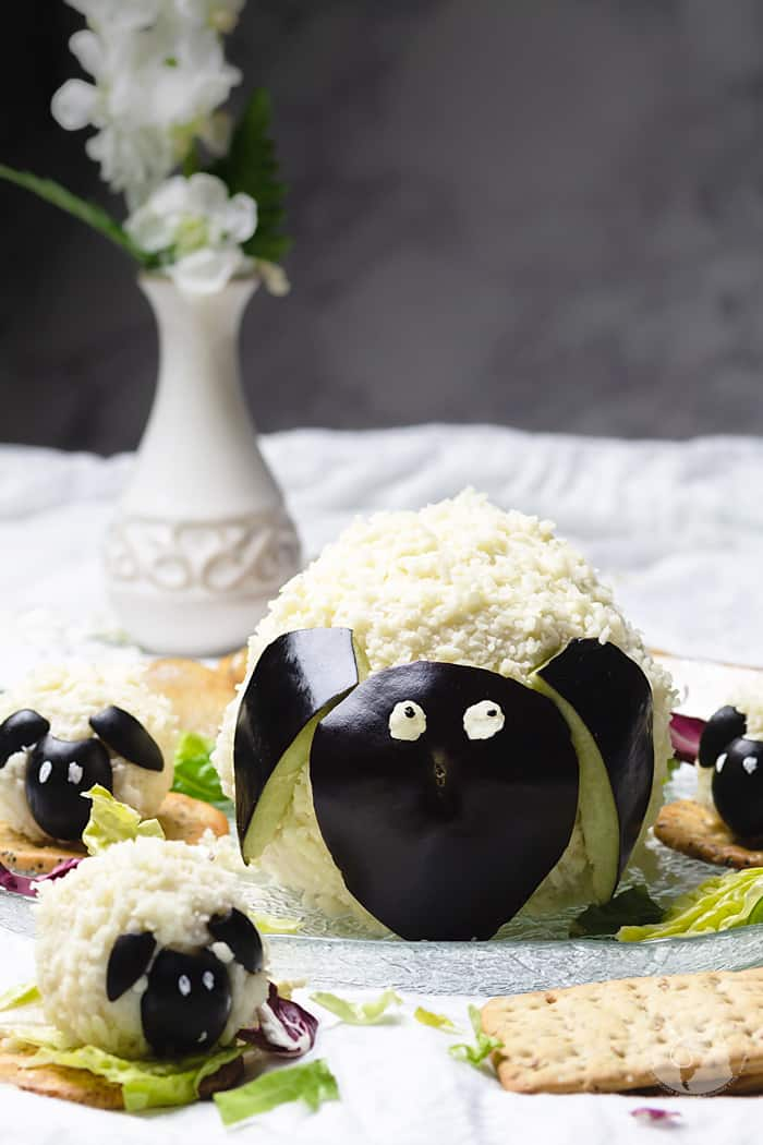 Crackers and delicious cheese spread are best when they are super adorable like these sheep and lamb.