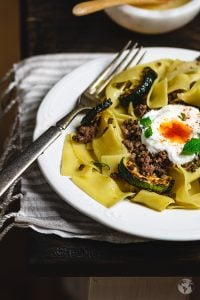 In turkey, ground lamb and pasta is typically enjoyed with a spiced up yogurt.