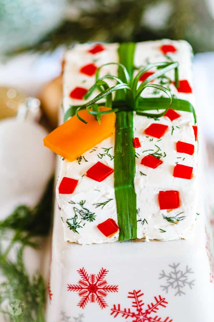 This festive German cream cheese spread is quick and easy to make.