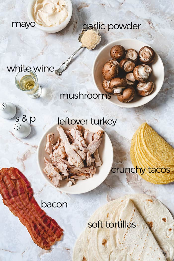 Ingredients for the taco turkey filling