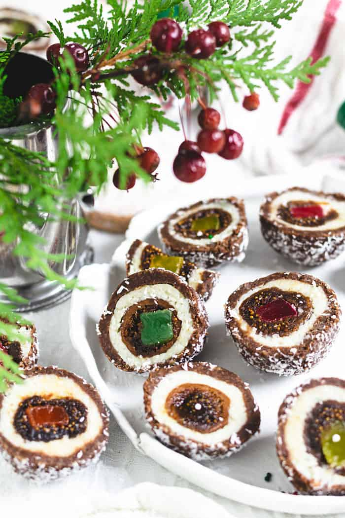 """Colorful """"mother in law's eye"""" truffles"""