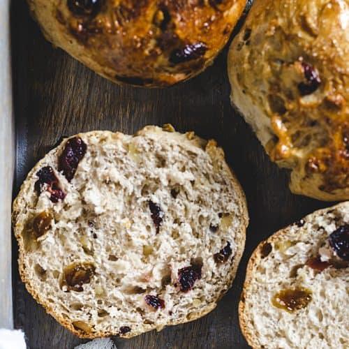 Danish Easy Yeast Buns - closeup