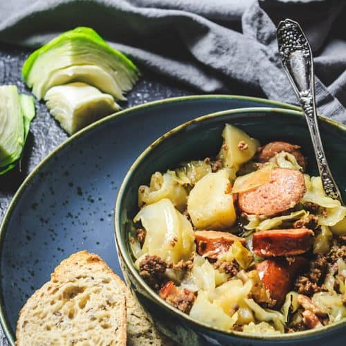 Recipe for German Hunter Cabbage Stew