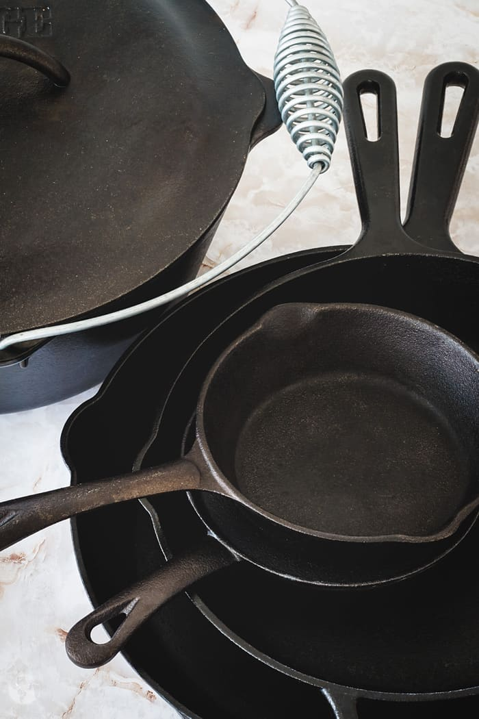 Cast-iron cookware.