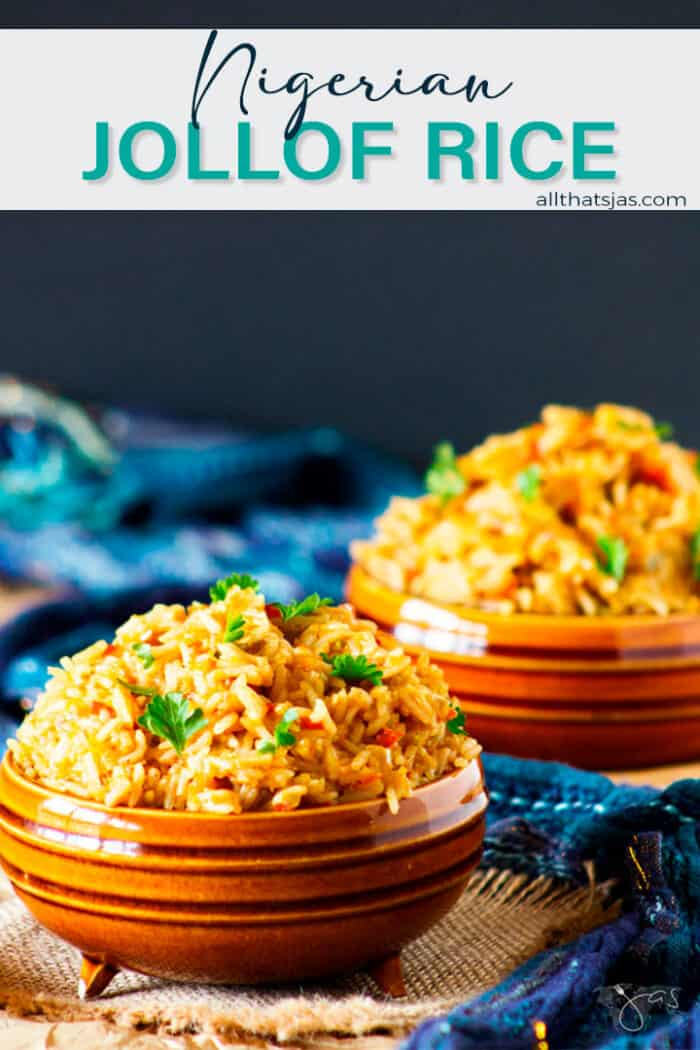 Two rice dishes with text overlay.