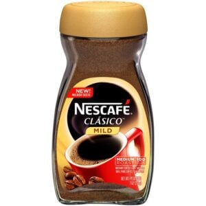 Nescafe coffee container.