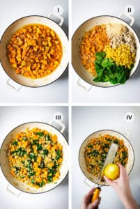 Four step instructions to making this risotto.
