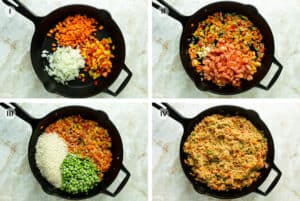 Four easy steps to making this Bosnian vegetarian rice dish