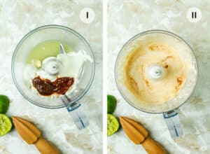 Two steps to making the spicy burrito sauce