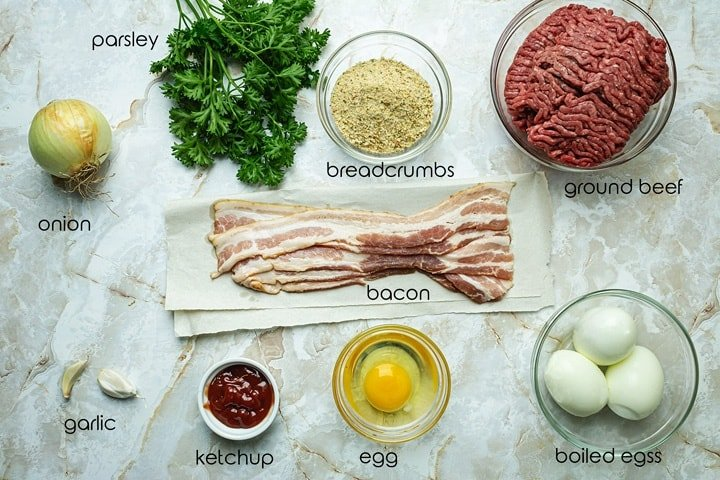 Ingredients needed for this German dish.