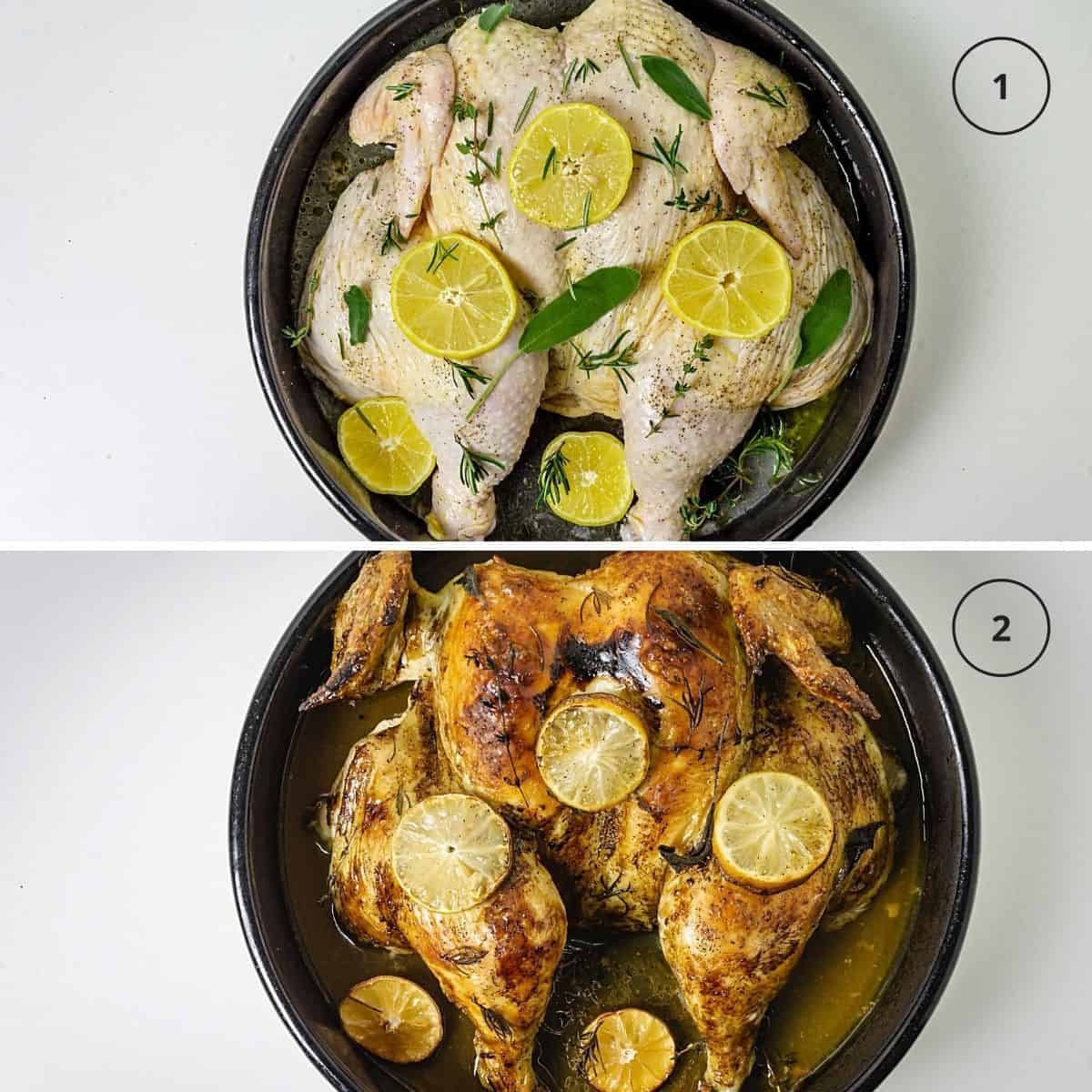 Steps to make a baked chicken