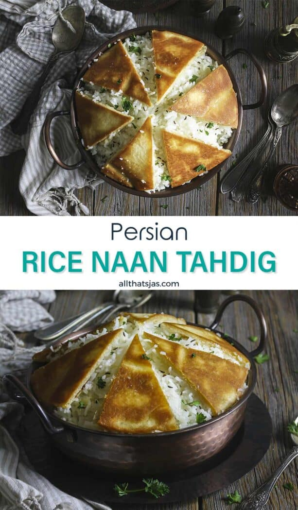 Two photo image with rice and crispy with text in the middletahdig