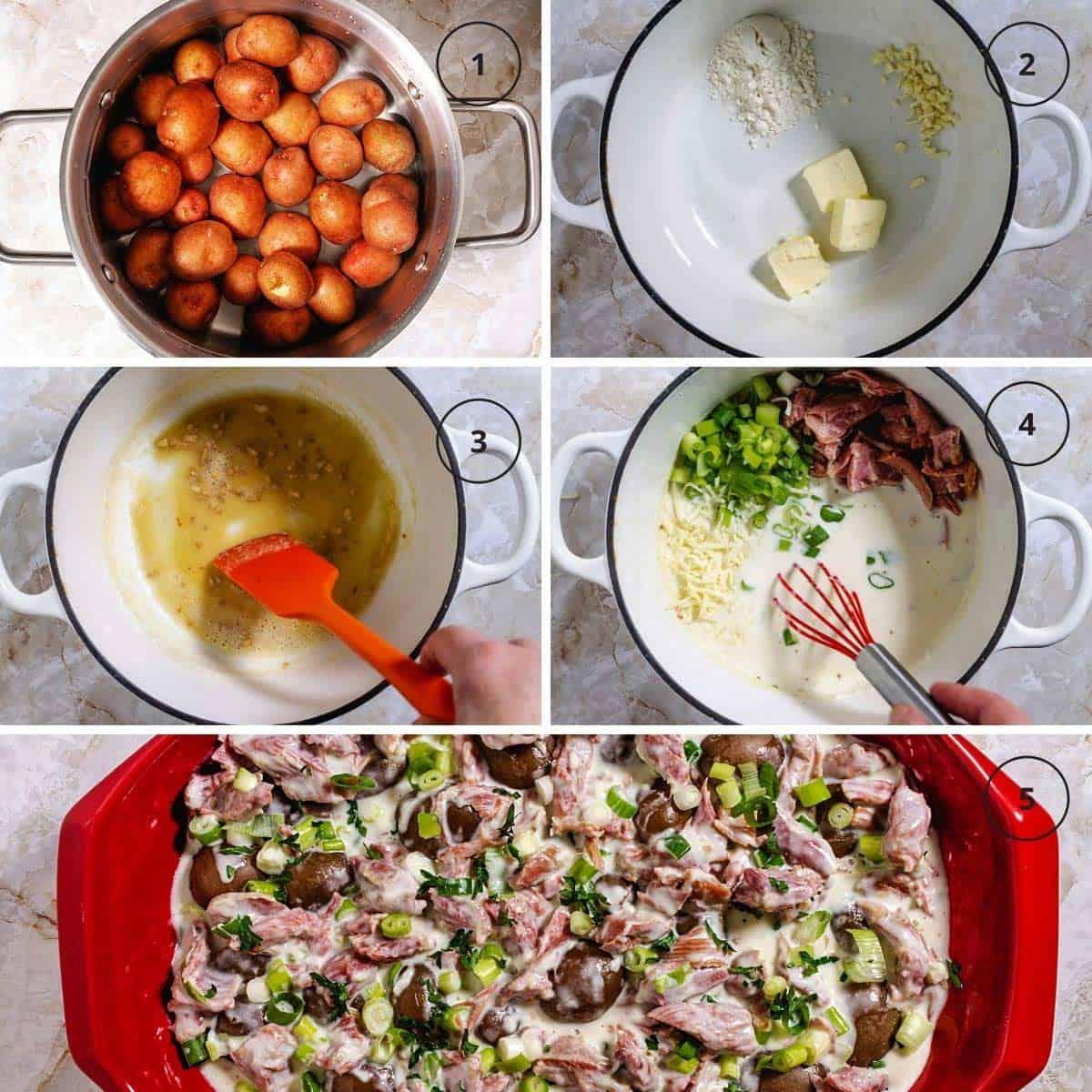 steps to making creamy German potato dish