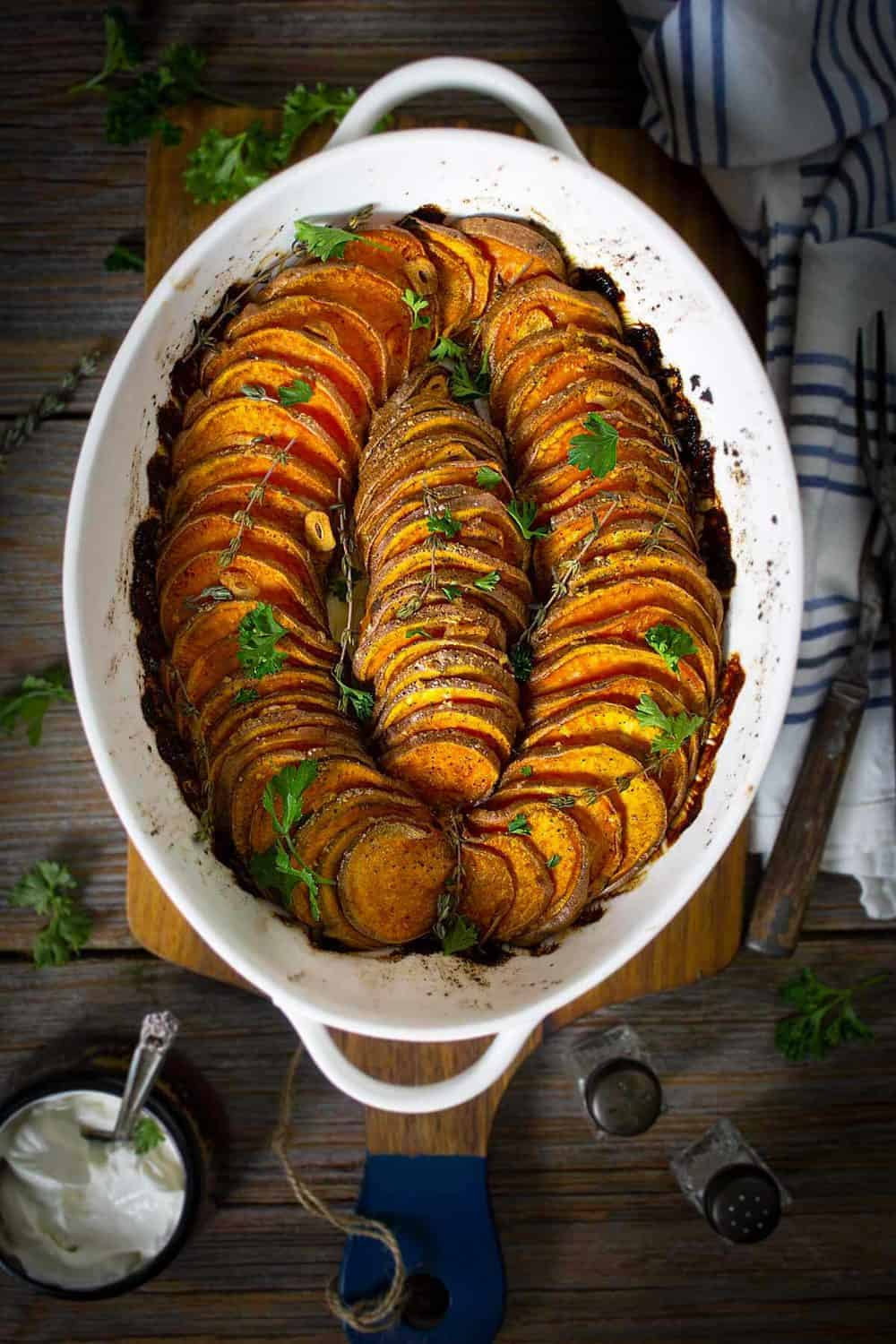 Crispy Roasted Sweet Potatoes Gluten Free All That S Jas