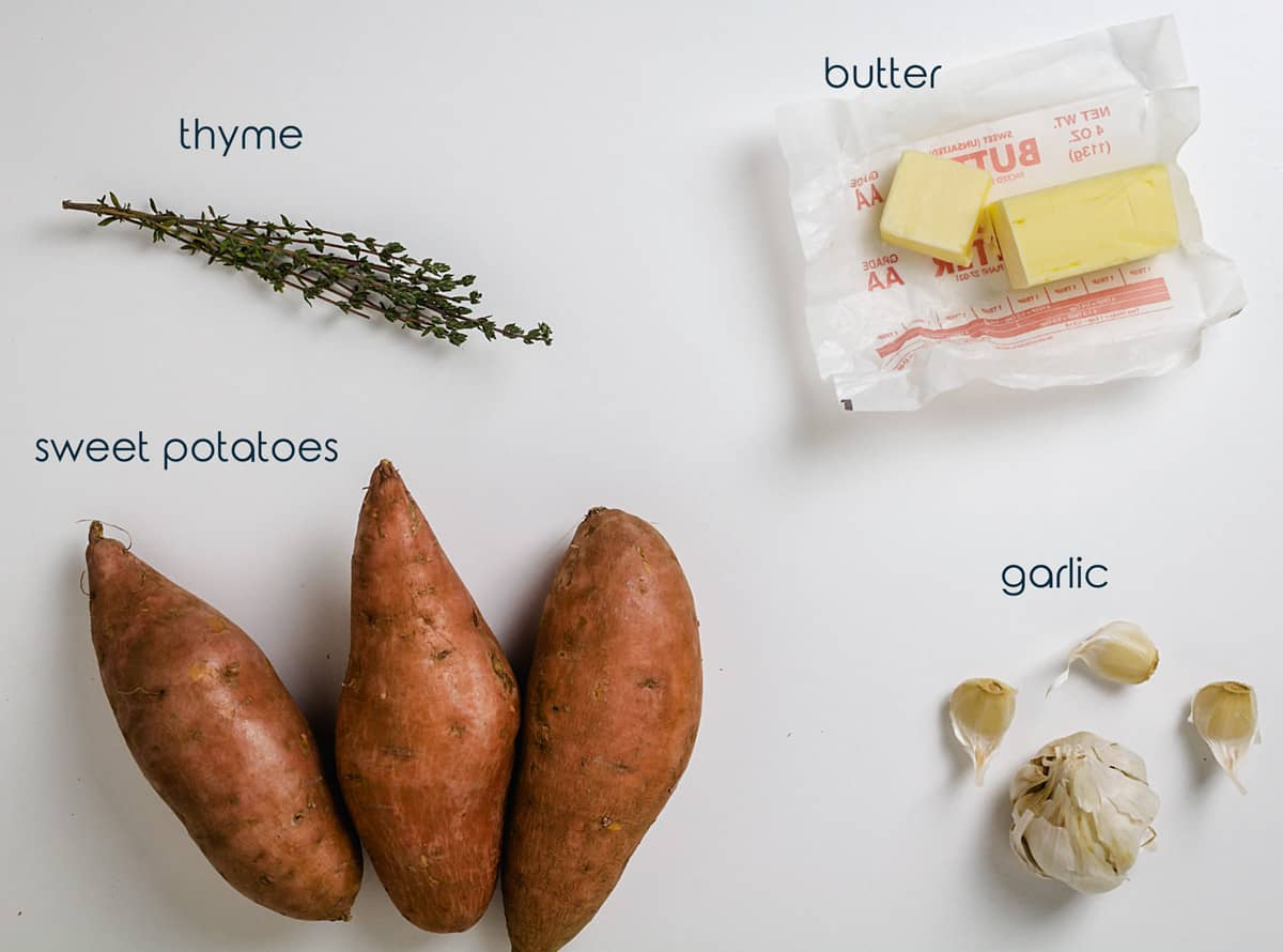 Ingredients needed for roasted potatoes recipe.