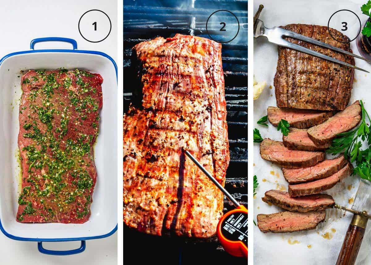 Steps to grill marinated steak