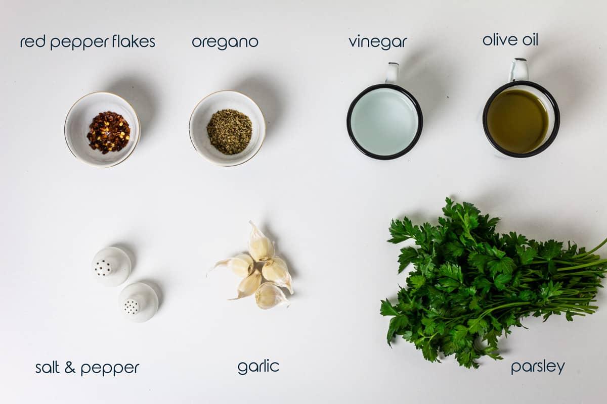 Ingredients for Asado steak