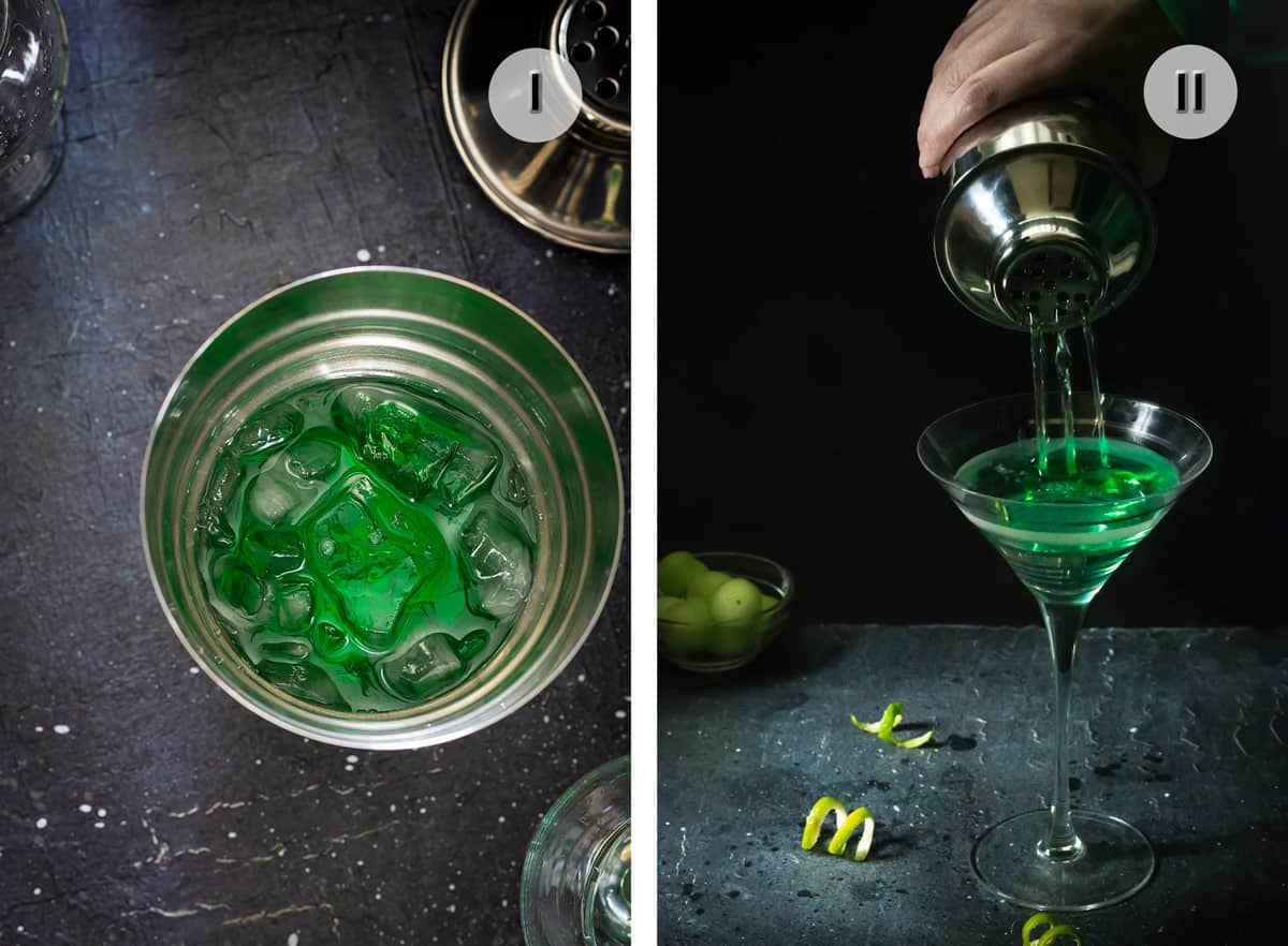 Two steps to making melon cocktail